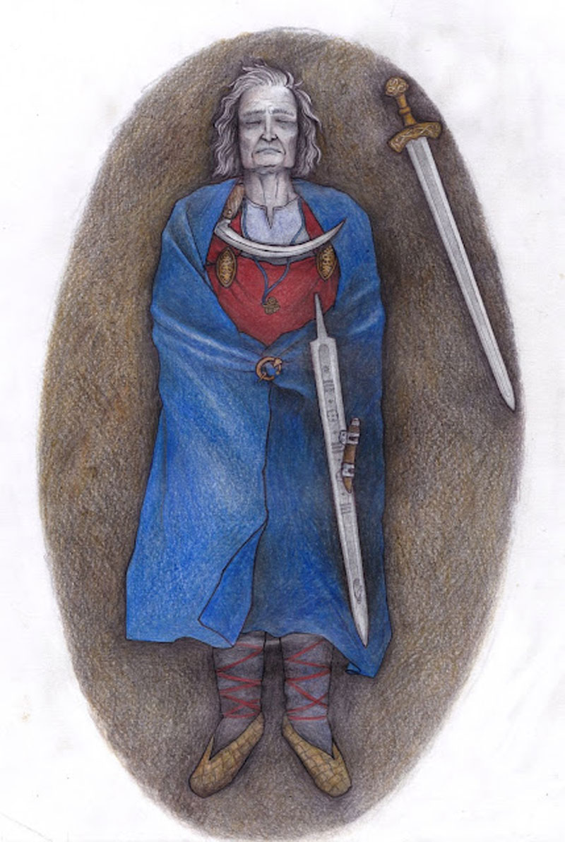 A reconstruction drawing of the Suontaka grave [Credit: Veronika Paschenko]