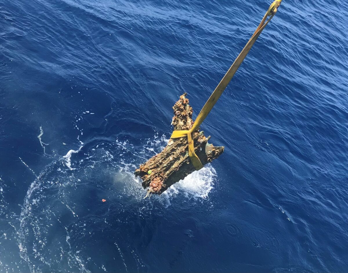 One of the rams recovered at the site. Image Credit : RPM Nautical Foundation