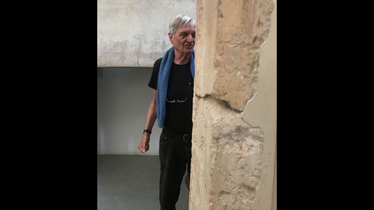 Dr. Schwandner at the Aphaia Temple Museum in 2017.