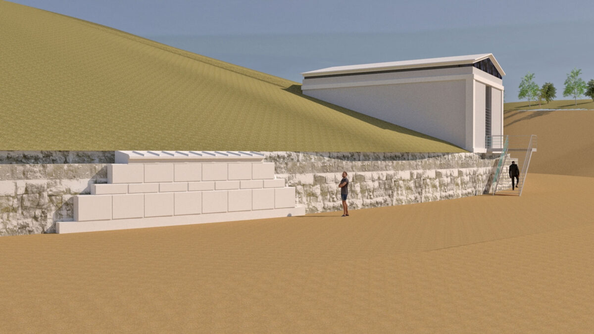 Proposal for the didactic restoration of the enclosure and the outer shell (photo: MOCAS)