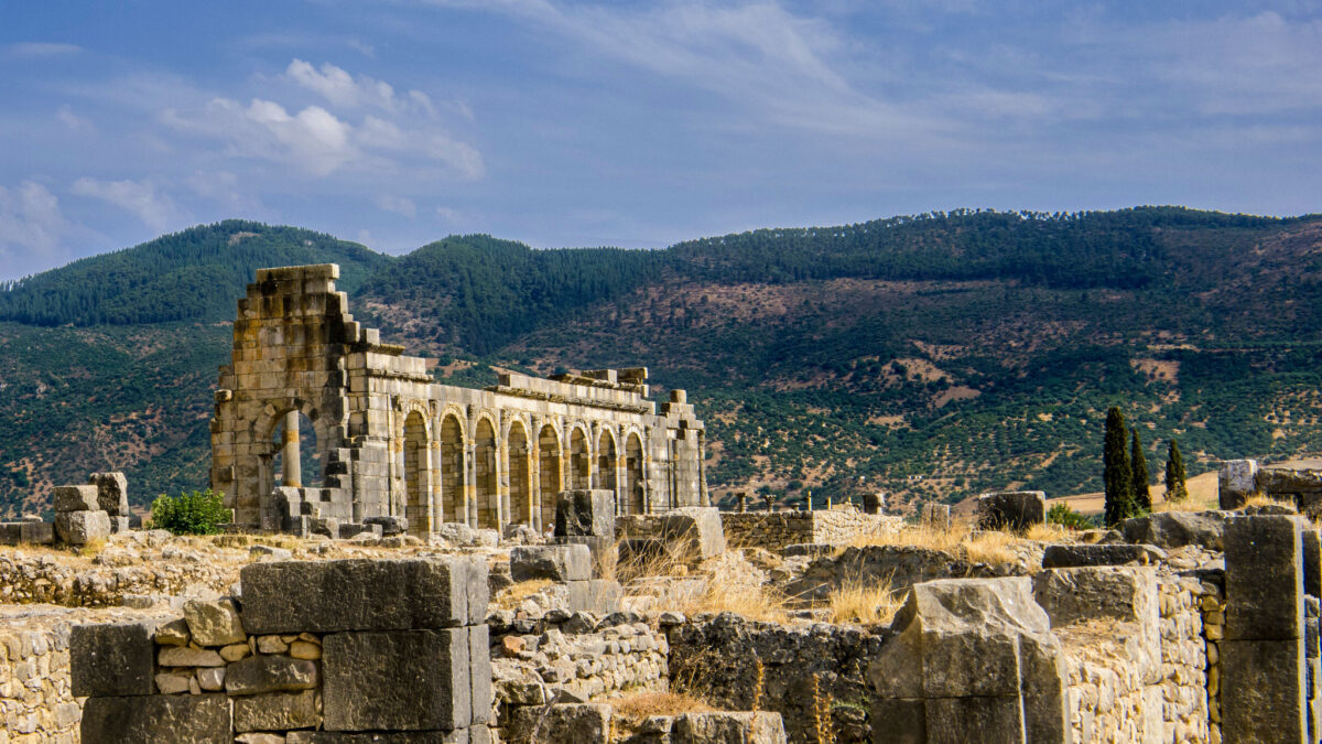 The ruins of Volubilis, a city in Morocco that was part of the Roman Empire. Credit: Sergio Morchon/ Flickr