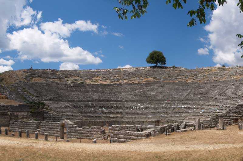 The ancient theatre of Dodona.