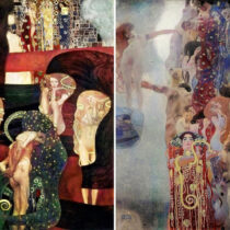 Klimt paintings reconstructed by artificial intelligence