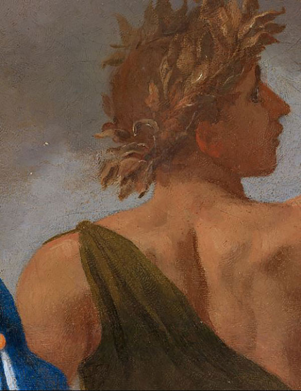 Detail from Nicolas Poussin, 'A Dance to the Music of Time', about 1634. By kind permission of the Trustees of the Wallace Collection, London (P108) © The Trustees of the Wallace Collection