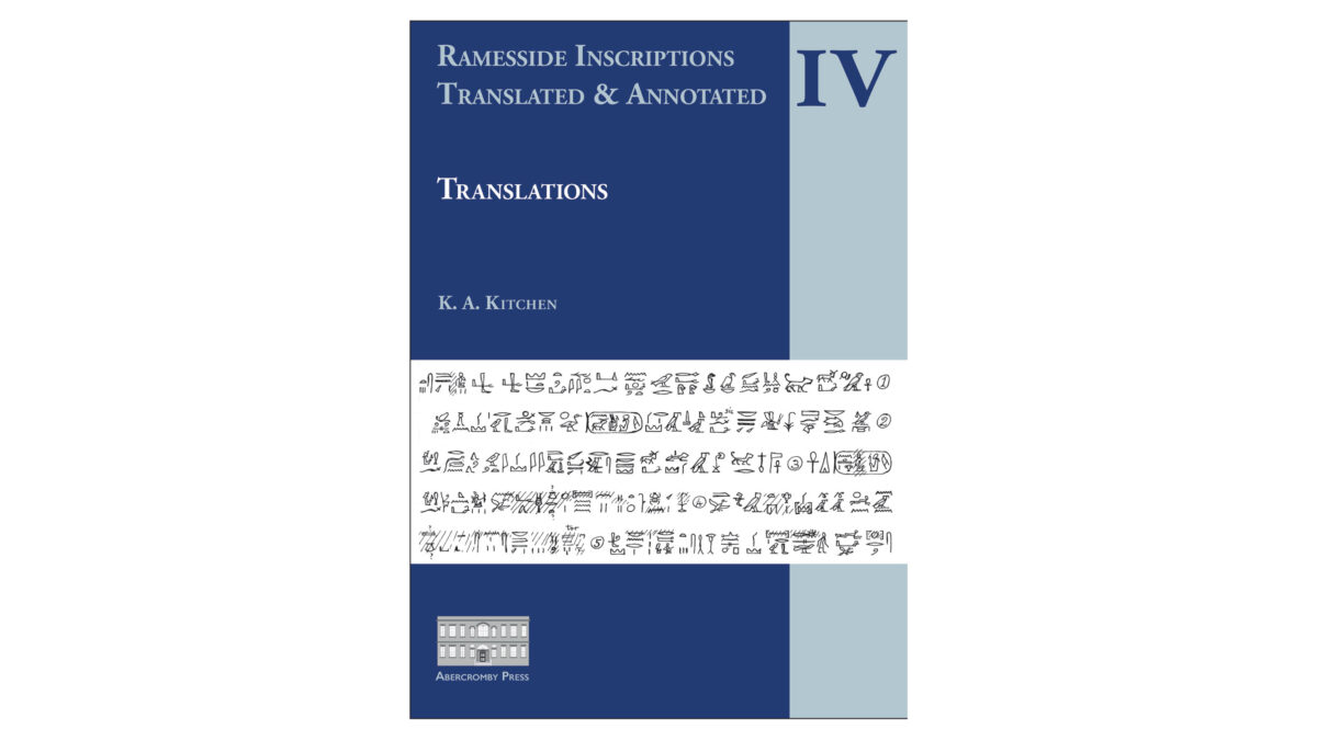 Ramesside Inscriptions. Translated & Annotated